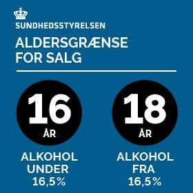Skiltning om salg af alkohol.